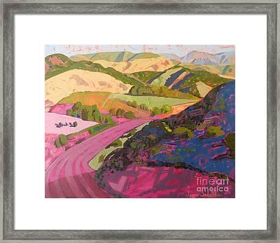 View From Ontario Ridge Toward Bishop Peak Framed Print by Jayne Schelden