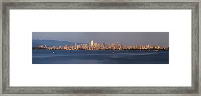 View From Spanish Banks Framed Print by Dan Breckwoldt