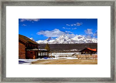 View From Stanley Framed Print by Robert Bales