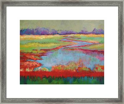 View From The Bridge Framed Print by Carol Jo Smidt