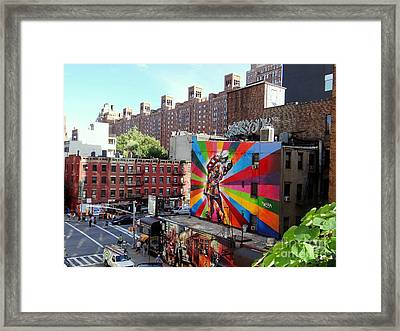 View From The Highline Framed Print by Ed Weidman