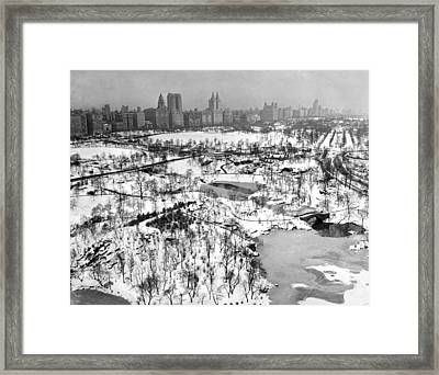 View From The Hotel Plaza Framed Print by Underwood Archives