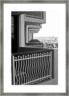 View From The Hotel Balcony Framed Print by Wayne King
