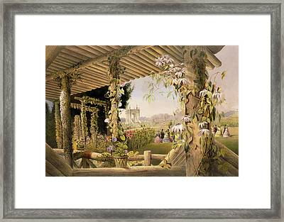 View From The Rustic Seat Shrublands Framed Print by E Adveno Brooke