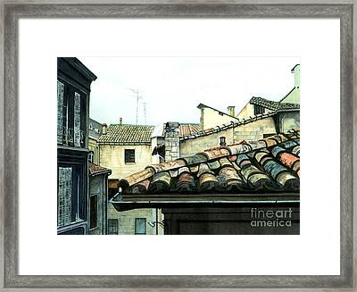 View From The Top Framed Print by Barbara Jewell