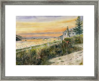 View From Wharton Ave  Framed Print by Melly Terpening