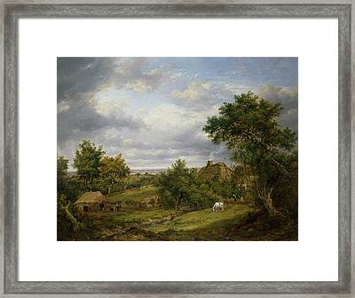 View In Hampshire, 1826 Framed Print by Patrick Nasmyth