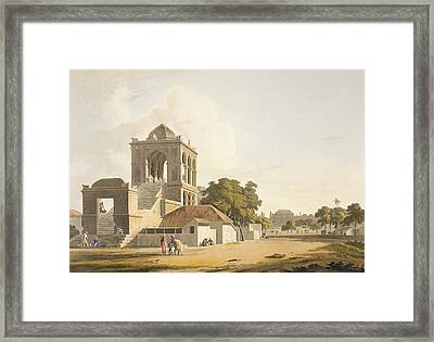 View In The Fort, Madura, Plate 14 Framed Print by Thomas Daniell