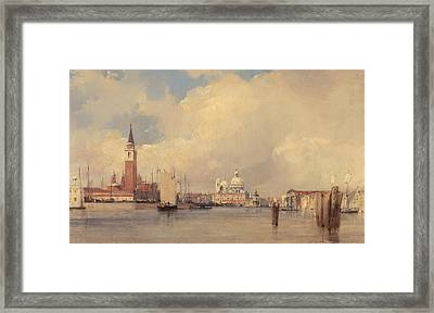View In Venice Framed Print by Richard Parkes Bonington