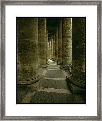 View Inside The Colonnade Photo Framed Print by Gian Lorenzo Bernini