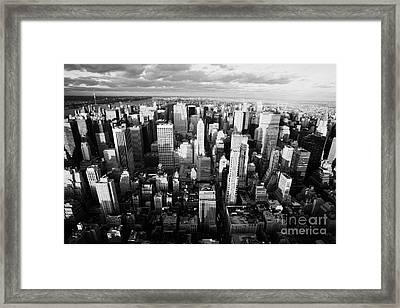 View North Towards Central Park New York City Framed Print by Joe Fox