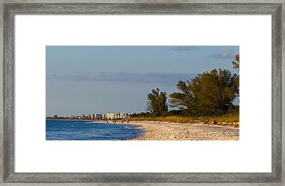 View Of A Beach, Naples, Collier Framed Print by Panoramic Images