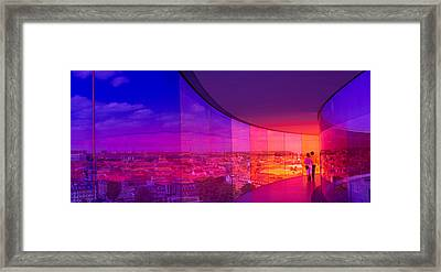 View Of A City From The Translucent Framed Print by Panoramic Images