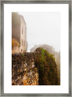 View Of A Town In Fog, Cordes-sur-ciel Framed Print by Panoramic Images