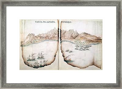 View Of Aguada Framed Print by British Library