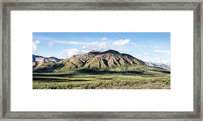 View Of Alaska Range Near Polychrome Framed Print by Panoramic Images