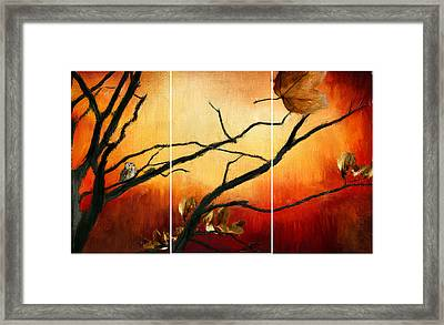 View Of Autumn Framed Print by Lourry Legarde