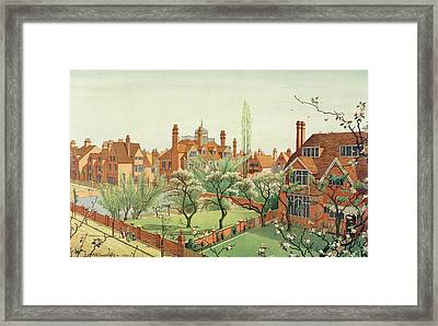 View Of Bedford Park Framed Print by English School
