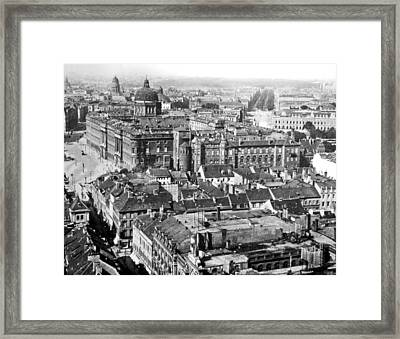 Framed Print featuring the photograph View Of Berlin Germany 1903 Vintage Photograph by A Gurmankin