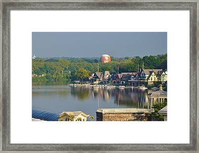 View Of Boathouse Row  Framed Print by Bill Cannon