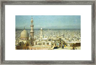 View Of Cairo Framed Print by Jean Leon Gerome