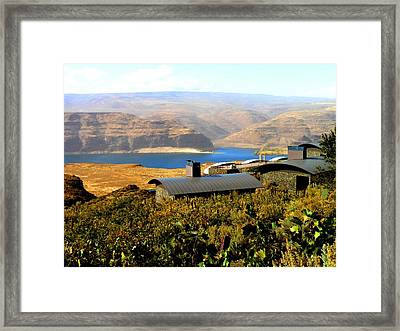 View Of Columbia River Framed Print by Kay Gilley