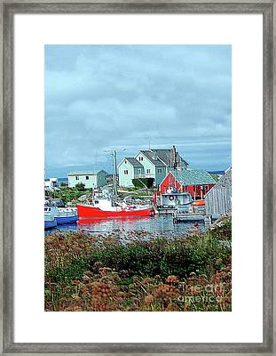 View Of Cove Framed Print by Kathleen Struckle