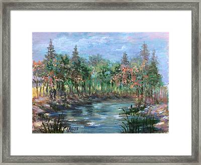 A Creek's View Framed Print by Laila Awad Jamaleldin