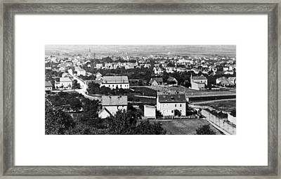 Framed Print featuring the photograph View Of Dresden Germany 1903 Vintage Photograph by A Gurmankin