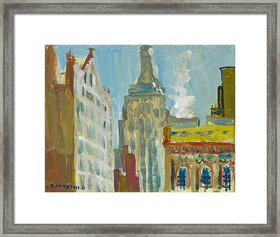 View Of Empire State 3 Framed Print by Edward Ching