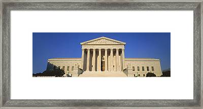 View Of Entire Us Supreme Court Framed Print by Panoramic Images