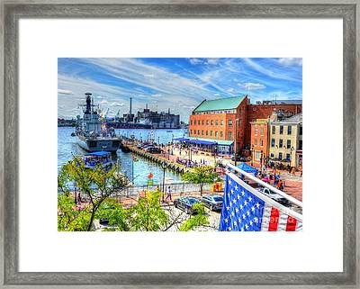 View Of Fells Point Framed Print by Debbi Granruth