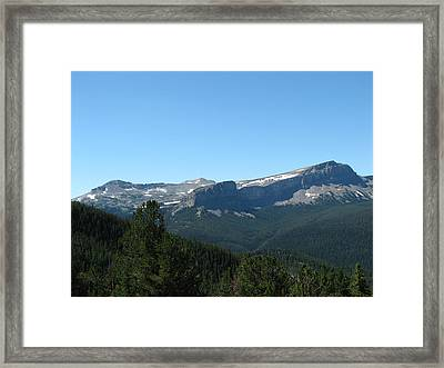 View Of Flint Mountain Framed Print by Pam Little