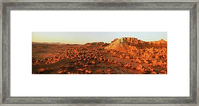 View Of Goblin Valley State Park, Utah Framed Print by Panoramic Images