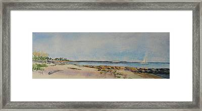 View Of Harkness Park From Seaside Waterford Ct Framed Print by Patty Kay Hall