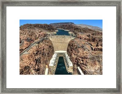 View Of Hoover Dam Framed Print by Eddie Yerkish