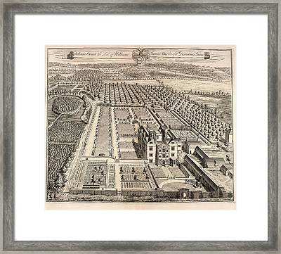View Of Ightham Court Framed Print by British Library