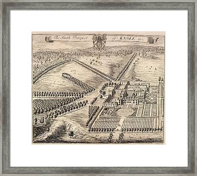 View Of Knole Framed Print by British Library
