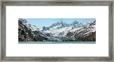 View Of Margerie Glacier In Glacier Bay Framed Print by Panoramic Images