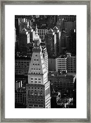 View Of Metropolitan Life Insurance Corp Tower Building New York City Framed Print by Joe Fox