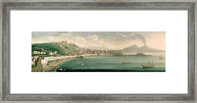 View Of Naples From The West, 1730 Framed Print by Gaspar Butler
