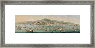 View Of Naples Framed Print by Gaspar Butler