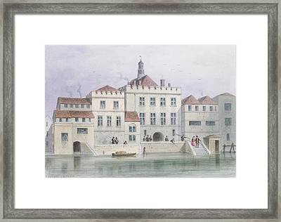 View Of Old Fishmongers Hall, 1650 Wc On Paper Framed Print by Thomas Hosmer Shepherd