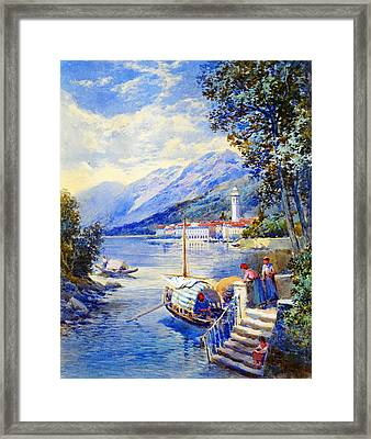 View Of Pallanza On Lago Di Maggiore Framed Print by Celestial Images