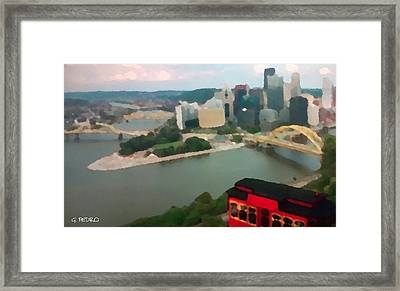 View Of Pittsburgh From Mt. Washington Framed Print by George Pedro