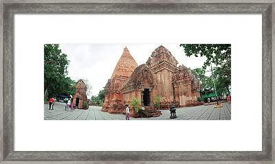 View Of Po Nagar Cham Temple Tower, Nha Framed Print by Panoramic Images