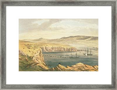 View Of Port Magee, Valentia Framed Print by Robert Dudley