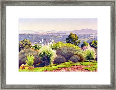 View Of Rancho Santa Fe Framed Print by Mary Helmreich