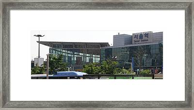 View Of Seoul Station, Namdaemun Framed Print by Panoramic Images