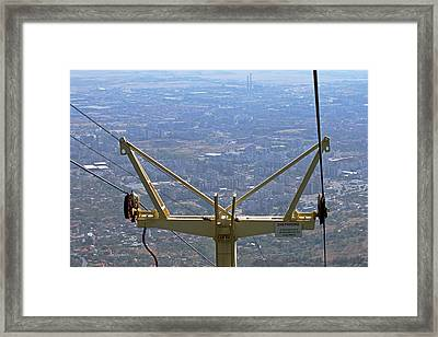 View Of Sliven From Chair Lift Framed Print by Tony Murtagh